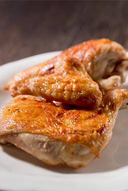 若鶏の炭火焼き